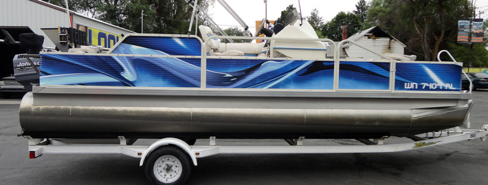 Update the look of your old boat with a custom wrap by Signs for Success in Spokane, we do boats from Pend O'Reille to Coeur d'Alene to Moses Lake to Pullman