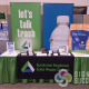 Tradeshow display for Spokane Regional Solid Waste System includes a table throw, retractable popup banner stands, easel posters and more, retractable banners spokane valley