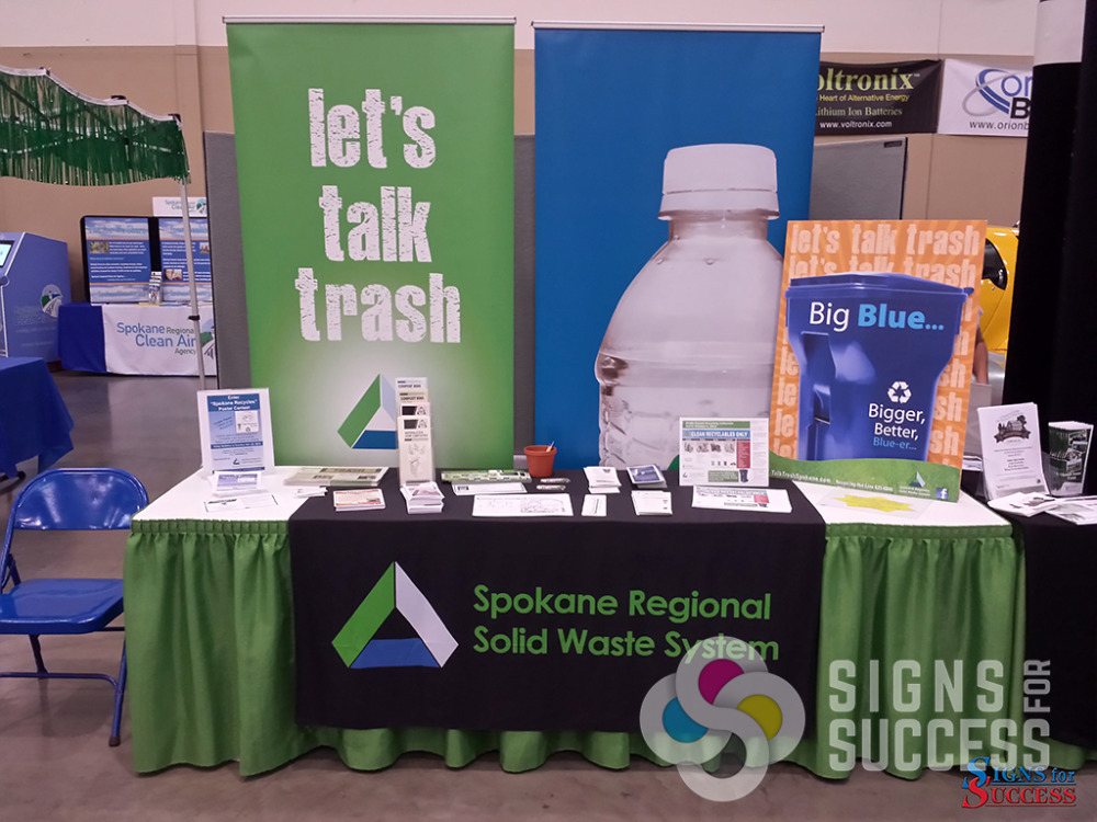 Exhibition Display Table : Trade show displays signs for success