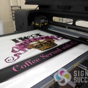 Even large decals can be contour cut with our large printers and cutters, like these for hot Toddy's in Spokane by Signs for Success