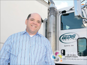 IEDS custom semi truck lettering and logo