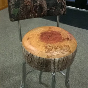 For a custom look to your vinyl stools or chairs, Signs for Success can print your logo or design, or use one of our non-repeating camouflage camo patterns