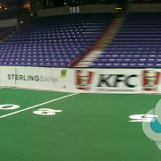 Signs for Success helped get these dasher board banners out in days for Spokane Shock