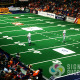Dasher board advertising at Spokane Arena for Shock football team by Signs for Success