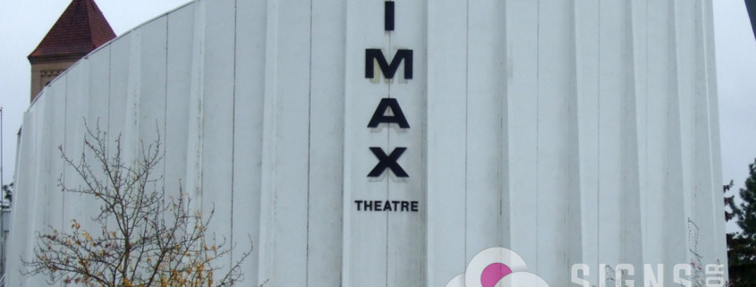 IMAX formed plastic letters, recreated, installed by Signs for Success in Riverfront Park, Spokane, WA, call now for fast sign service, instant, reliable