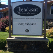 This post and rail sign is actually a lightbox for The Advisors, via Stuart Advertising by Signs for Success