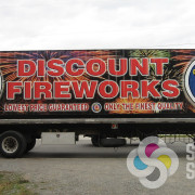 Discount Fireworks is changing to these steel containers for their fireworks stands, wrapping them makes them stand out with custom design and quality wrap in Spokane and Oroville