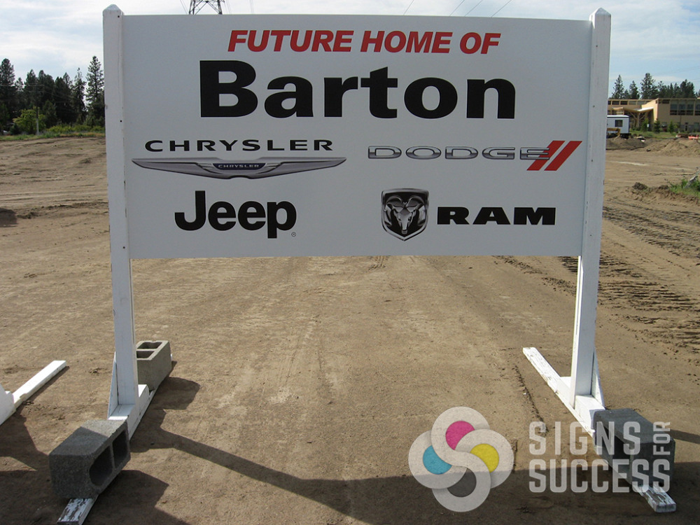 Create Interest with Custom Skid Signs - Signs for Success