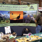 Inland Northwest Wildlife Council banner for tradeshows looks great and was designed by Signs for Success in North Spokane, trade show banners
