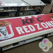 Arena Foot Ball Red Zone Sponsor Banner