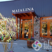Mounting metal letters on bottom studs for Maialina Restaurant in Mosco presented problems that Signs Signs for Success figured out, metal letters spokane