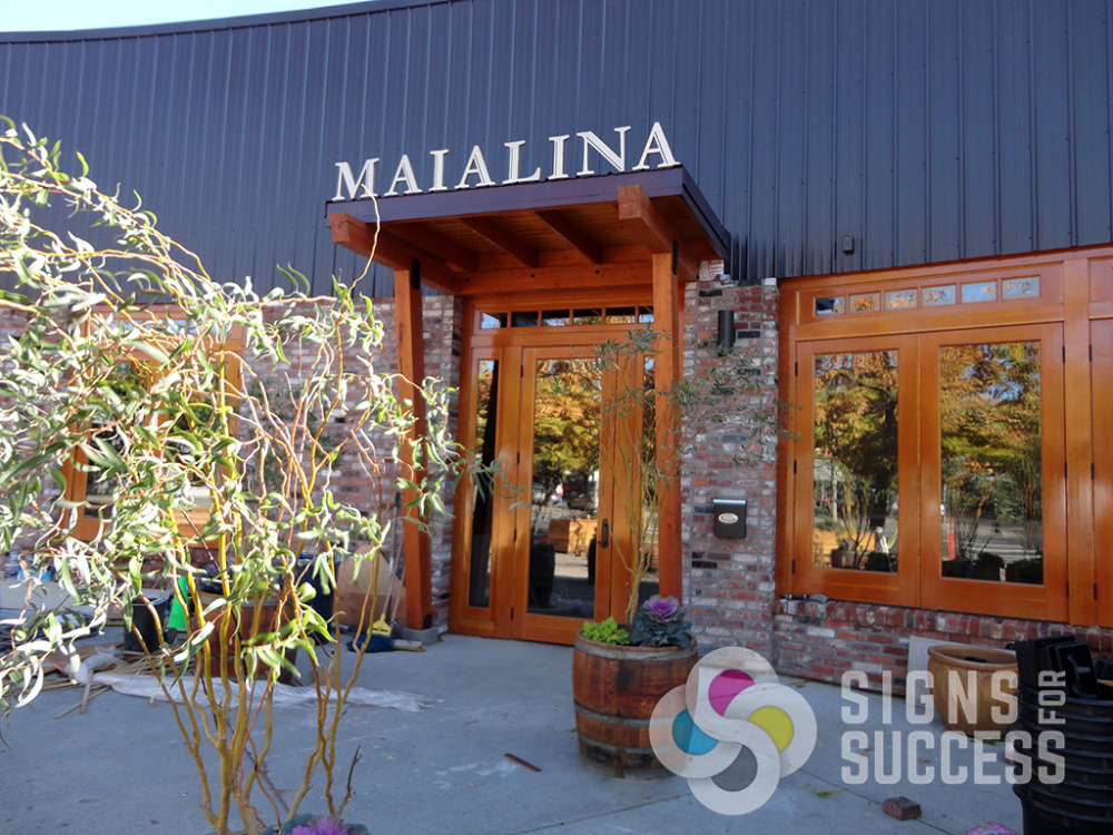 mounting metal letters on bottom studs for maialina restaurant in mosco presented problems that signs signs