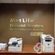 Dimensional metal letters, solid aluminum or metal laminate on acrylic make great interior lobby signs in your office, by Signs for Success in Spokane, Greenacres