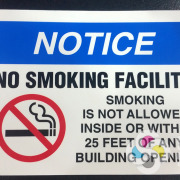 No Smoking signs, decals, and stickers are needed for all businesses, let Signs for Success take care of printing them for you, spokane