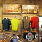 Decorate with affordable styrene, paper, foamcore, gator posters in your retail clothing store, by Signs for Success in Spokane, foamcore prints deer park