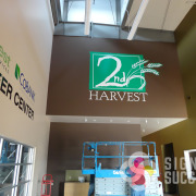 2nd Harvest in Pasco wanted their logo and partner logos on the wall, cut and printed vinyls, even large logos can be done fast by Signs for Success Spokane