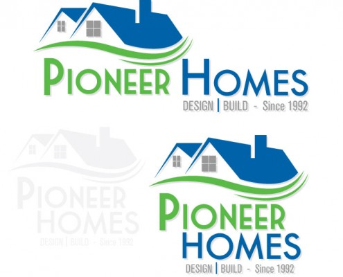 Pioneer Homes Logo Design