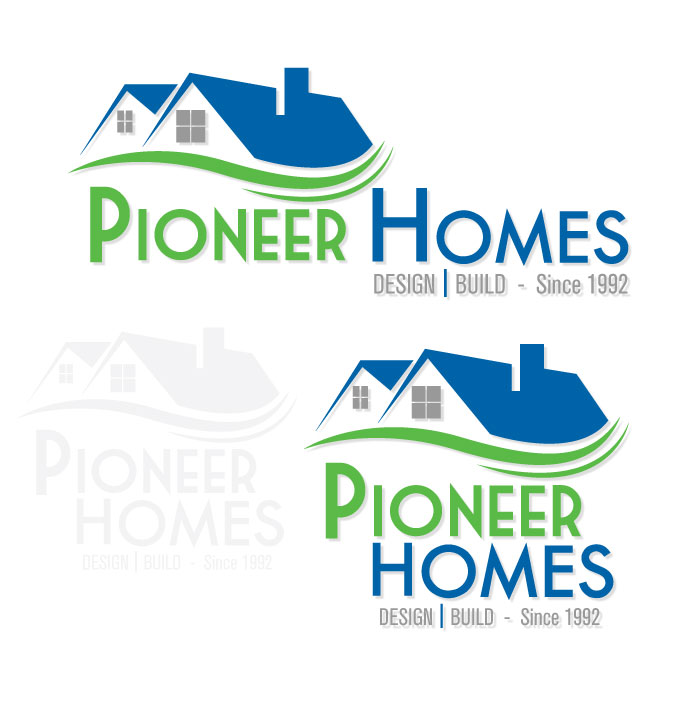 ... Pioneer Homes Logo Design ...