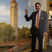 Full sized cutout standee of person, political candidates, servicemen and women, and others garner a second look with free standing lifesized image