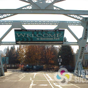 Riverfront Park in Spokane welcomes visitors with this large bridge banner by Signs for Success, call now for fast signs and banners, custom banner materials