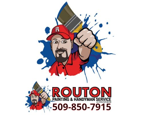 Custom Logo Design for Routon Painting & Handyman