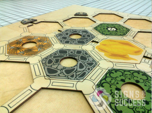 Digitally printed wood game boards with shape cuts, custom game boards