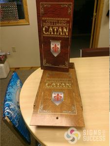Custom printed wood game boxes, custom game boards