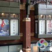 If you have banners or window graphics that need installed, call Signs for Success Spokane, Riverpark Square, Athleta, Sign a Rama