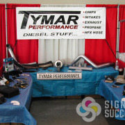 Event banner to use at shows for Tymar Performance, Spokane and Spokane Valley