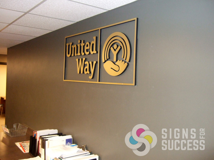 Dimensional Letters Signs For Success