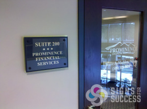 Give your tenants a classic look with Acrylic suite signs on standoffs, easily changed as tenants change, gives a uniform look to the whole building, great for office buildings or apartment complexes, stand-off mounts, suite signs spokane