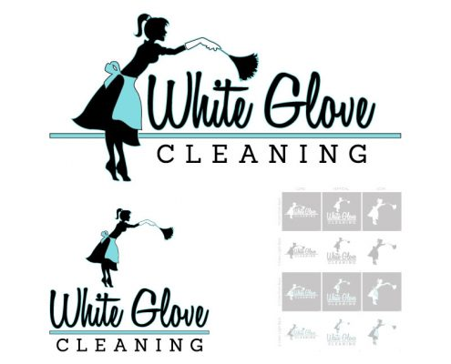 Custom Logo Design for White Glove Cleaning