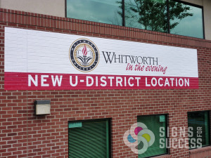 Original Whitworth wall wrap, installed by Signs for Success in 2010