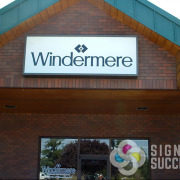 Lexan lighbox face with translucent vinyls for Windermere in Spokane and Greenacres and Veradale