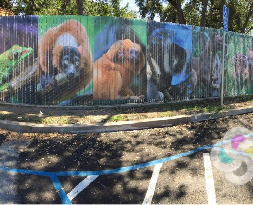 Custom Printed Chain Link Fence Slats for Zoo