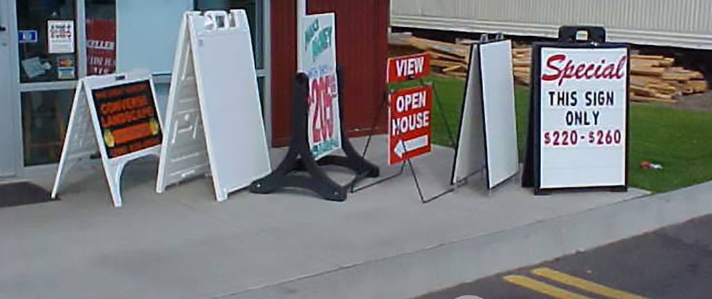 A-frames and sidewalk signs for Spokane