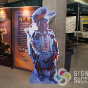 Kalispell Tribe of Indians wanted a full sized cutou standee of a chief for their kiosk at Northern Quest Resort & Casino, Spokane