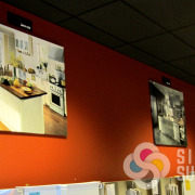 Gallery Wrap canvas prints for Fred's Appliance give a unique decorating look to this store, by Signs for Success, custom canvas prints Spokane