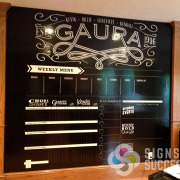 Gaura custom dry erase wallpaper