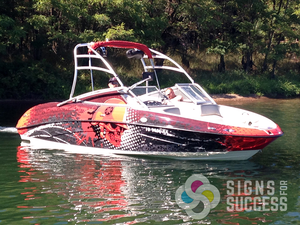 this customer came in with some ideas of what he liked and we took that to - Boat Graphics Designs Ideas