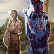 Custom life sized standees with easel backs for Northern Quest Kalispell Tribe of Indians museum at the Casino in Airway Heights, by Signs for Success in Spokane