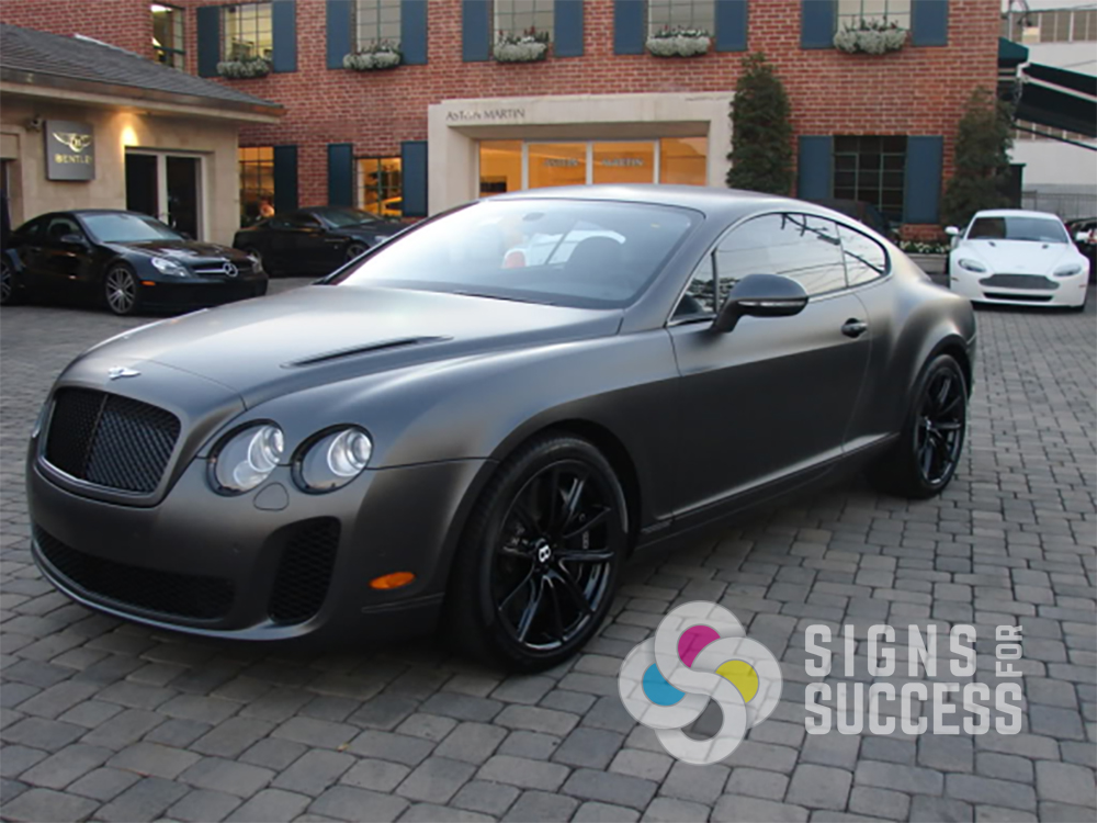 Attractive Matte Grey Paint Job Sports Car