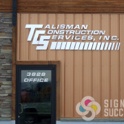 Dimensional aluminum letters and metal laminate letters can be a great addition for adding your logo to your building like Talisman Construction in Spokane, outdoor dimensional letters