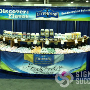 Banners help make this tradeshow display booth an attractive showpiece, by Signs for Success for Sandpoint & Spokane, trade show display Spokane