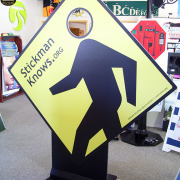 This rigid standee was put outside at an event so people could stand behind and put their head through for a photo, Done fast by Signs for Success, Spokane