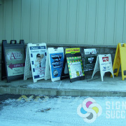Signs for Success stocks a variety of a-frames in Spokane, give us a call for your next sidewalk sign