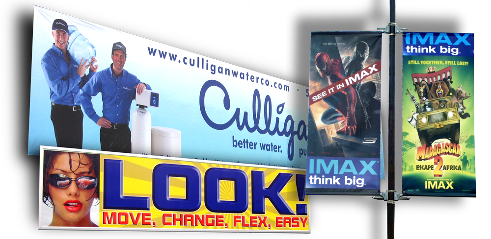 Design and print custom vinyl banners, street pole banners, and more!