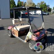 Golf Cart wrap designed by Signs for Success, Spokane, for Oroville's Discount Fireworks
