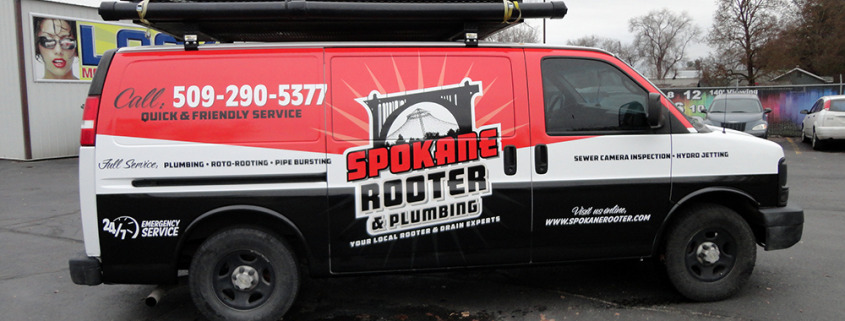 clever, custom van wrap by McLam Group, Call Signs for Success for a quick, custom design and quote, now, in Spokane
