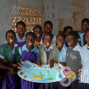These lap desks are printed and laminated, double sided, then cut out, given to school kids in Africa for a great learning experience